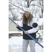 Уборка снега, снегоуборщиком кровли фото