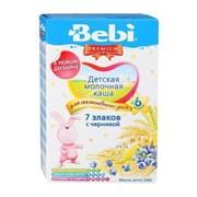 Бэби каша премиум 7 злаков с черникой с молоком (с 6 мес) 200г фото