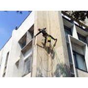 Очистка фасадов (механическая) от высолов. фото
