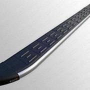 Пороги Ford Ecosport 2013-2017 (алюм. с пласт. накладкой карбон/серебро) фото