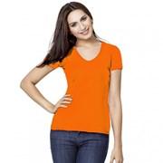 Женская футболка-стрейч с V-воротом StanVictoryWomen 07W Оранжевый XL/50 фото