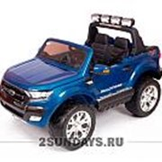 Детский электромобиль Dake Ford Ranger Blue 4WD MP4 - DK-F650-BL фото