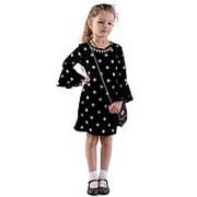 Модное платье черного цвета в горох 122 фото