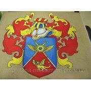 Вышивка гербов и вымпелов фото
