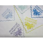 Вышивка праздничных носовых платочков фото