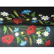 Машинная вышивка цветов фото