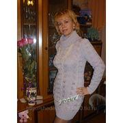 Платье-свитер связанный спицами фото