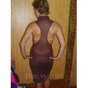 Летнее трикотажное платье фото