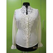 Блузка с элементами вязания фото