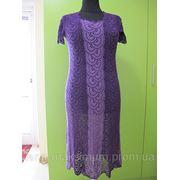 Нарядное вязанное платье фото