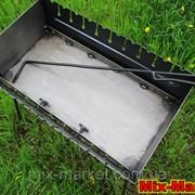 Раскладной мангал - чемодан на 10 шампуров + КОЧЕРГА В ПОДАРОК фото
