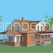 Панельно каркасный финский дом Рубин фото