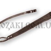 Ремень ружейный Плетеный трапеция, коричневый (кожа) фото