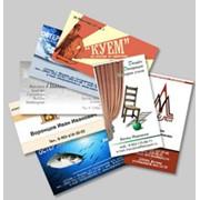 Изготовление визитных карточек фото