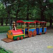 Паровозик с вагончиком фото