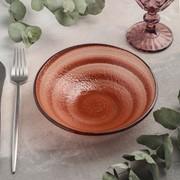 Салатник «Карамель», d=18 см, цвет оранжевый фото