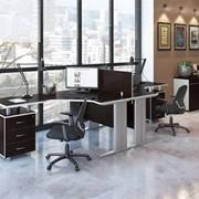 Комплект офисной мебели Свифт К2 Темный фото