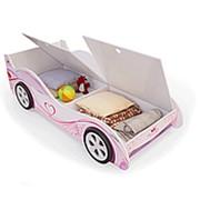 Детская кровать машинка принцесса с ящиками фото