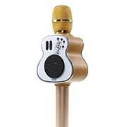 Беспроводной Bluetooth караоке-микрофон M9 (золото) фото