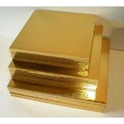 Поднос квадратный 250*250 золотой фото