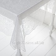 Скатертина Paisley з мереживом 145x145 шампань фото