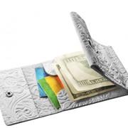 Зажим для денег белый флорис фото