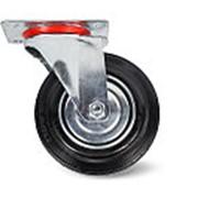 Колесо поворотное резина SC55 125мм (C-3302-SLS-125) фото