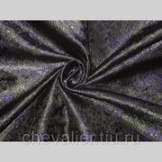 Шелк фиолетовый, черный, зеленый фото