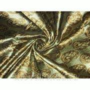 Шелк оливково-зеленый, коричневый фото