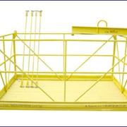 Оборудование строительное для ремонта поверхностей градирен АЭС, ТЭЦ с применением люлек (фасадных подъемников) и специальных передвижных консолей. фото