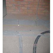 Прокладка труб винипластовых по основанию пола, диаметр, мм, до: 25 фото