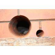 Пробивка отверстий в кирпичных стенах, диаметром: до 50 мм при толщине стен до 38 см фото