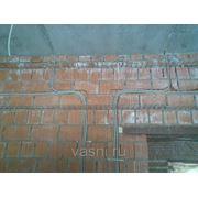 Прокладка труб винипластовых по стенам и колоннам, диаметр, мм, до: 25 фото