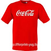 Нанесение логотипа на футболки фото