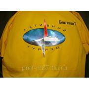Нанесение многоцветных изображений на футболки фото