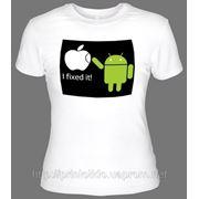 Печать логотипа на футболке фото