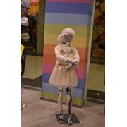 Манекен детский зеркальный пластик фото