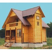 Дом из оцилиндрованного бревна Москва фото