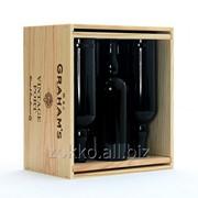 Ящик для вина на шесть 6 с перегородками фото