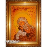 Симеон Богоприимец - Икона Из Янтаря, Ручная Работа Код товара: Оар-187 фото