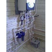 Монтаж системы отопления и водоснабжения в Уфе фото