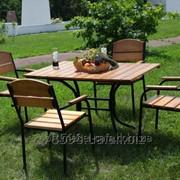 Комплект мебели Премиум KIT-Premium-BL черный металл, светлое дерево фото