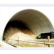 Строительство бескаркасного быстровозводимого зернохранилища фото