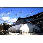 Быстровозводимое сооружение. зимний надувной ангар фото