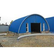 Строительство бескаркасного быстровозводимого гаража фото