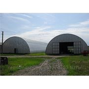 Ангары каркасные арочные, изготовление, монтаж, быстровозводимые здания фото