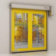 Скоростные рулонные ворота для пищевой промышленно фото