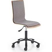 Кресло компьютерное Halmar JACK (грецкий орех/серый) фото