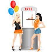 BTL, разнос по подъездам, раздача, расклейка листовок фото