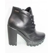 Зимние кожаные ботинки арт. 50209 фото
